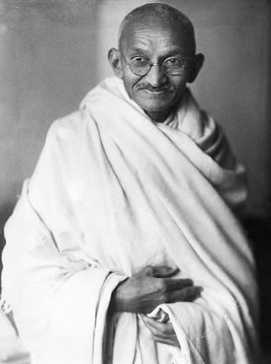 Mohandas Karamchand Gandhi aka Mahatma Gandhi, India's Father of Nation.